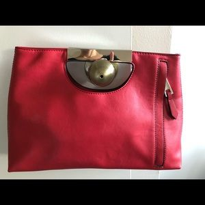The Limited faux leather clutch purse